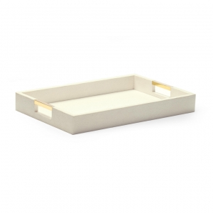 Aerin Modern Shagreen Desk Tray Cream