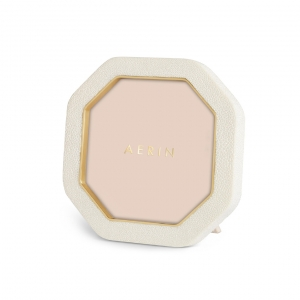 Aerin Octagonal Shagreen Photo Frame Cream