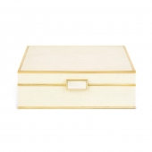 Aerin Classic Shagreen Large Jewelry Box Cream