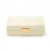 Aerin Modern Shagreen Small Jewelry Box Cream