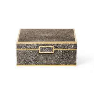 Aerin Classic Shagreen Small Jewelry Box Chocolate