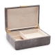 Aerin Modern Shagreen Chocolate Jewelry Box Large