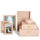 Aerin Modern Shagreen Jewelry Box - Blush