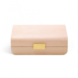 Aerin Modern Shagreen Small Jewelry Box Blush