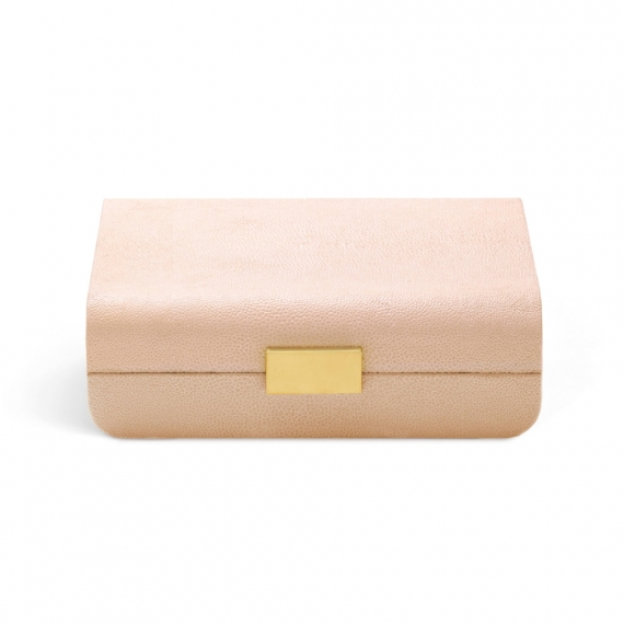 Modern Shagreen Jewelry Box - Blush
