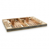 Aerin Shagreen Backgammon Set Chocolate