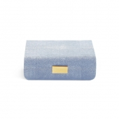 Aerin Modern Shagreen Small Jewelry Box Blue