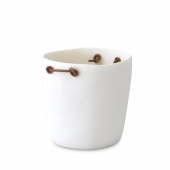 Tina Frey Champagne Bucket With Leather Handles White