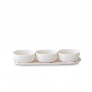 Tina Frey Trio Of Bowls On Dish Set White