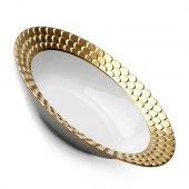 L'Objet Aegean Rimmed Serving Bowl Gold