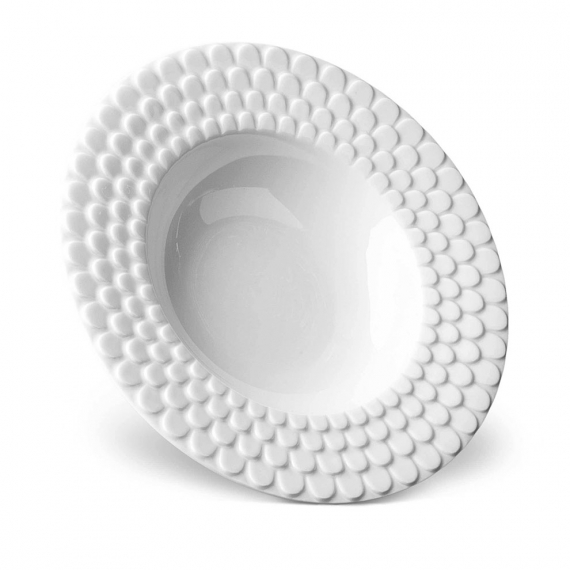 Aegean Rimmed Serving Bowl - White