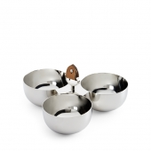 Ralph Lauren Wyatt Triple Nut Bowl Silver