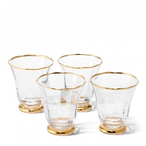 Aerin Sophia Tumbler Set Of 4 Gold