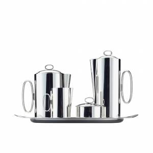 Zanetto Tea And Coffee Set 5 Pieces Silver