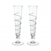 Juliska Pair Of Amalia Flutes Clear