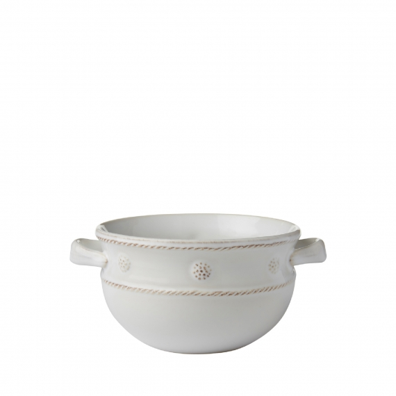 Berry & Thread Whitewash 2 Handled Soup and Chili Bowl Set of 4