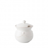 Juliska Berry & Thread Whitewash Lidded Sugar Pot Set of 2 White