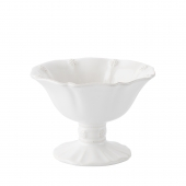 Juliska Berry & Thread Whitewash Footed Compote Set of 4 White