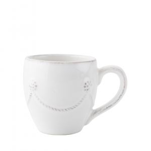 Juliska Berry & Thread Whitewash Demitasse Cup Set of 4 White