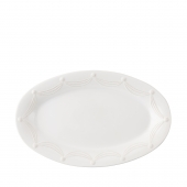 Juliska Berry & Thread Whitewash Oval Platter White