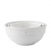 Juliska Berry & Thread Whitewash Nesting Serving Bowls Set of 3 White