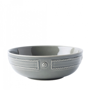 Juliska Berry & Thread French Panel Stone Coupe Bowl Set of 4 Gray
