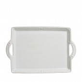 Juliska Berry & Thread French Panel Whitewash Handled Tray/Platter White