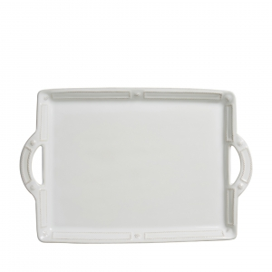 Berry & Thread French Panel Whitewash Handled Tray/Platter