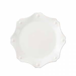 Juliska Berry and Thread Whitewash Scallop Dessert and Salad Plate Set of 4 White