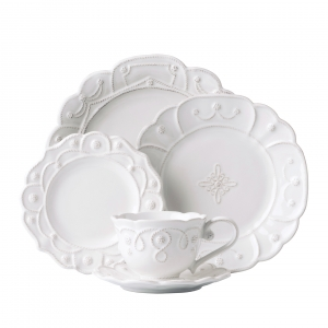 Juliska Jardins du Monde Whitewash 5pc Setting White