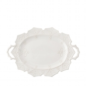Juliska Jardins Du Monde Whitewash Turkey Platter White