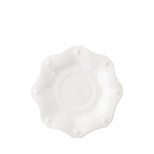 Juliska Berry & Thread Whitewash Scallop Saucer Set of 4 White