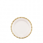 Juliska Classic Bamboo Natural Dinner Plate Set of 4 White
