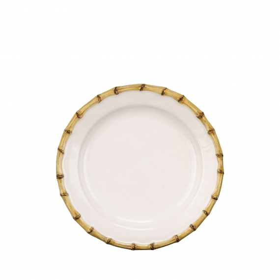 Classic Bamboo Natural Dessert / Salad Plate Set of 4
