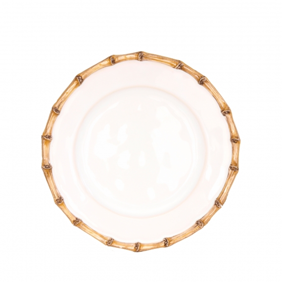 Classic Bamboo Natural Side / Cocktail Plate Set of 4