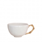 Juliska Classic Bamboo Natural Tea and Coffee Cup Set of 4 White