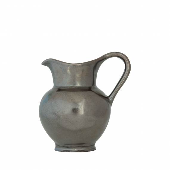 Pewter Stoneware Creamer Set of 2