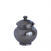 Juliska Pewter Stoneware Lidded Sugar Bowl Set of 2 Gray