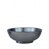 Pewter Stoneware Serving Bowl