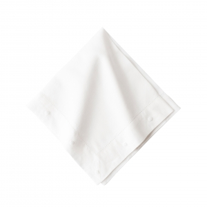 Berry Embroidered White Napkin