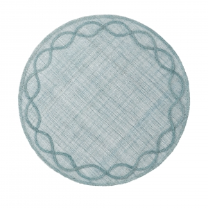 Juliska Tuileries Garden Ice Blue Placemat Set of 4 Blue