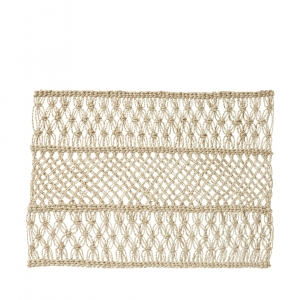Juliska Macrame Natural Placemat Set of 4 Beige