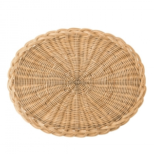Juliska Braided Basket Oval Natural Placemat Set of 4 Beige