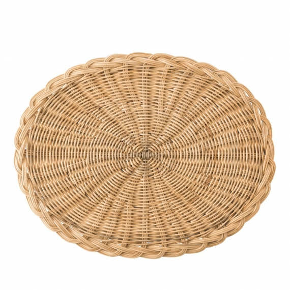 Braided Basket Oval Natural Placemat Set of 4