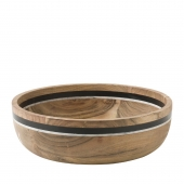 Juliska Stone Stripe Serving Bowl Wood