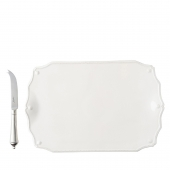 Juliska Berry & Thread Whitewash Serving Board with Knife White