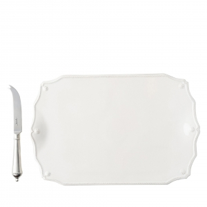 Berry & Thread Whitewash Serving Board with Knife