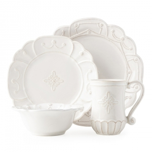 Juliska Jardines du Monde Whitewash 4pc Setting White