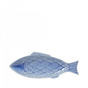 "Berry & Thread Delft Blue Crackle ""Fish"" Platter"