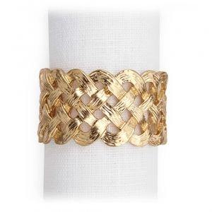 Braid Napkin Jewels Set of 4 - Gold